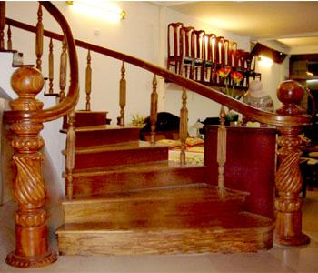 Nội thất Duy Nghiêm - Các loại cầu thang gỗ
